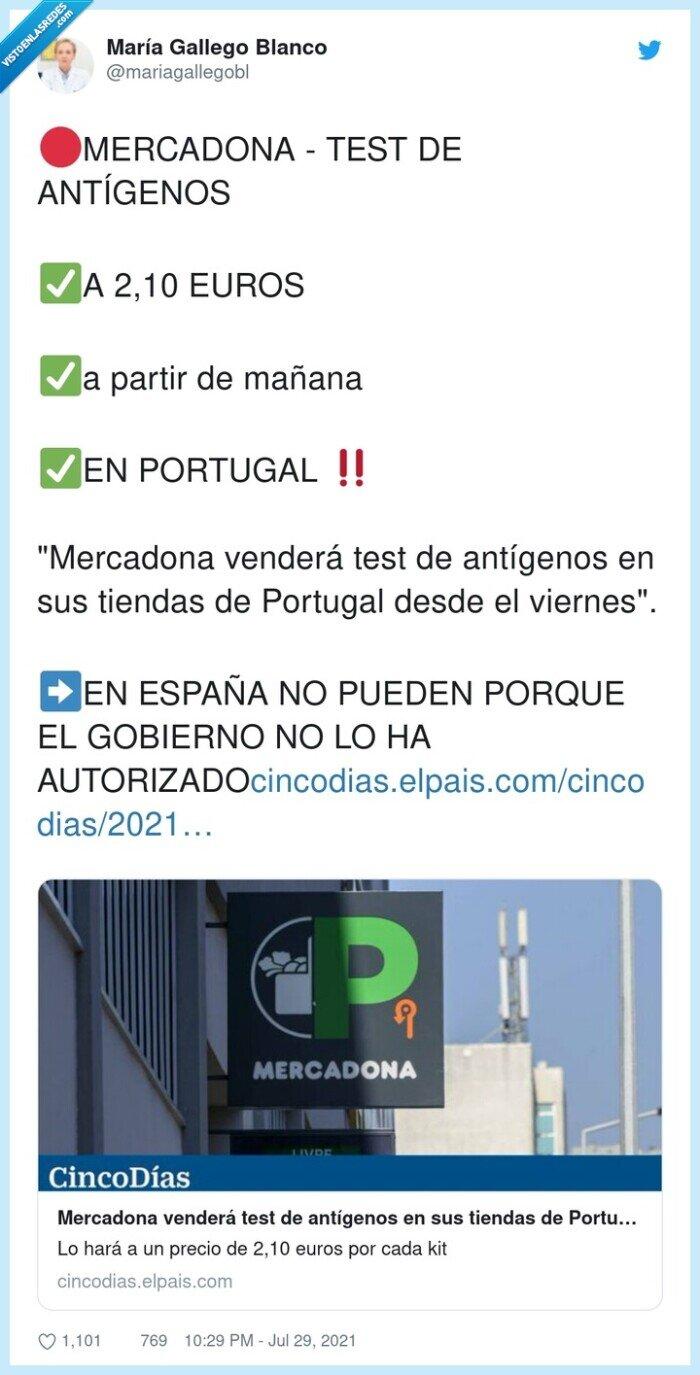 antígenos,autorizado,gobierno,mercadona,portugal