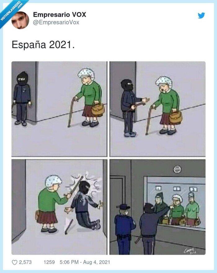 2021,ancianos,defenderse,delincuentes,españa,ladrones