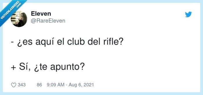 apuntar,club,rifle