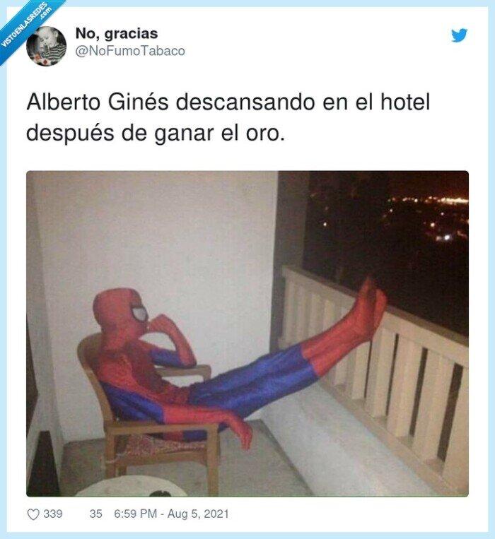 alberto ginés,ganar,hotel,jjoo,spiderman