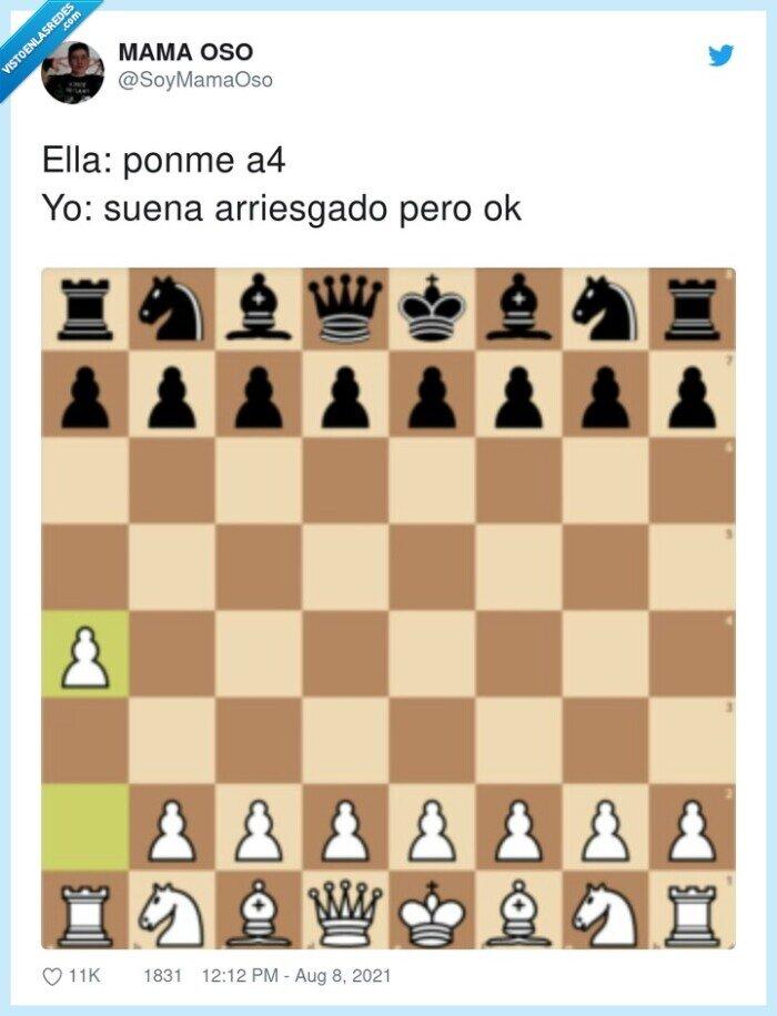 a cuatro,a4,ajedrez,arriesgado