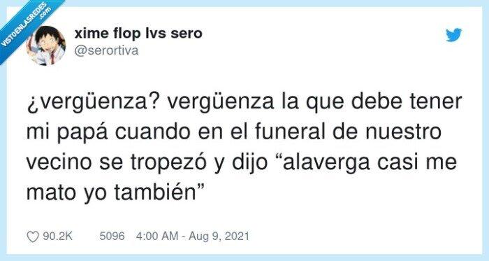 funeral,tropezar,vergüenza