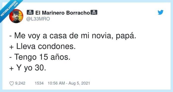 años,condones,llevar,novia,papá