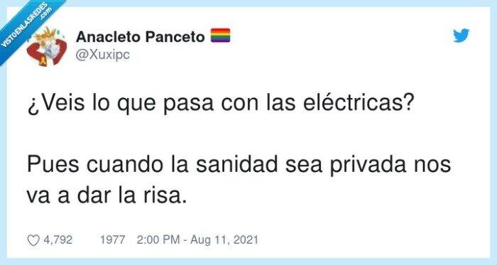 eléctricas,sanidad privada