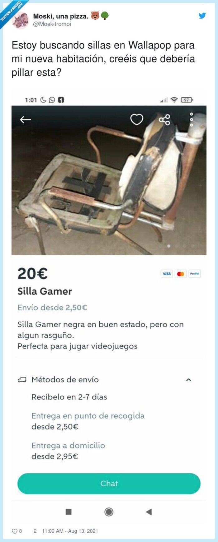 buscar,gamer,habitación,sillas,wallapop