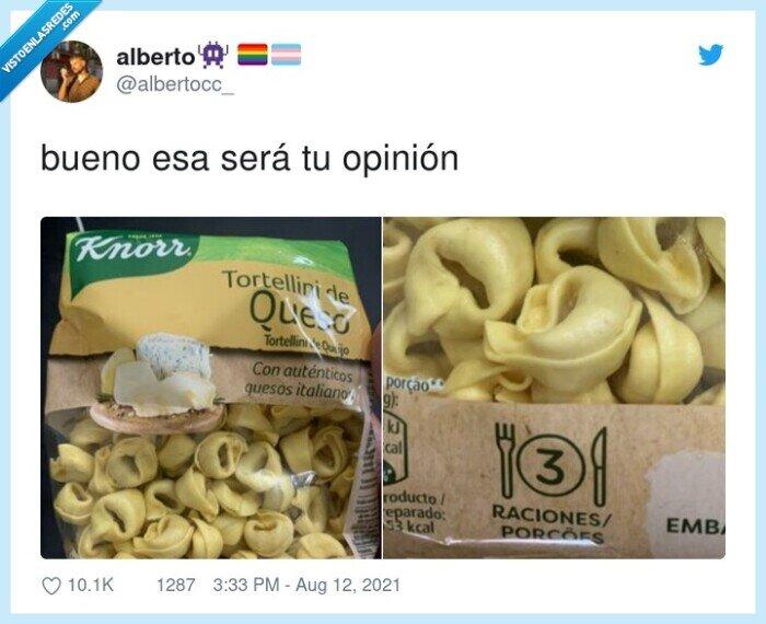 ración,tortellini