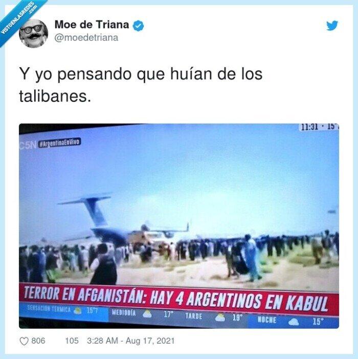argentinos,huír,talibanes