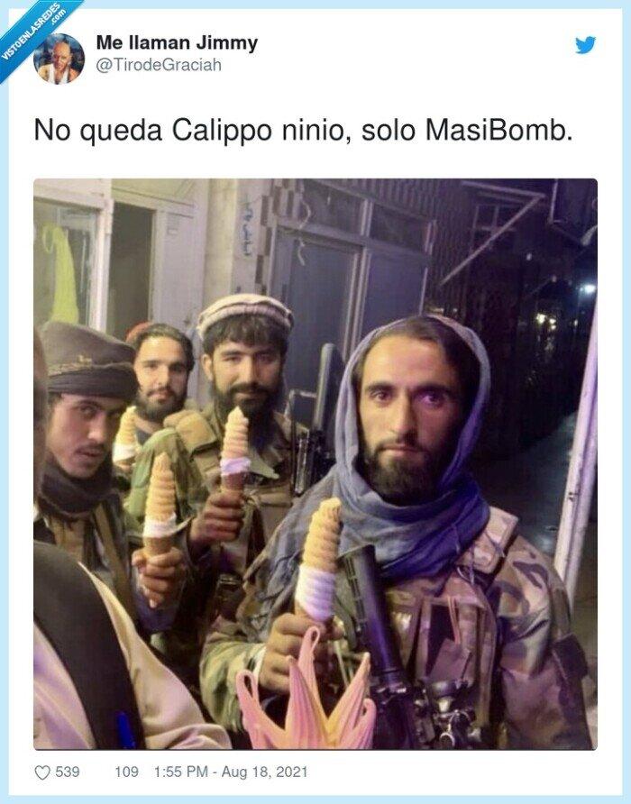 calippo,masibomb,ninio,talibanes