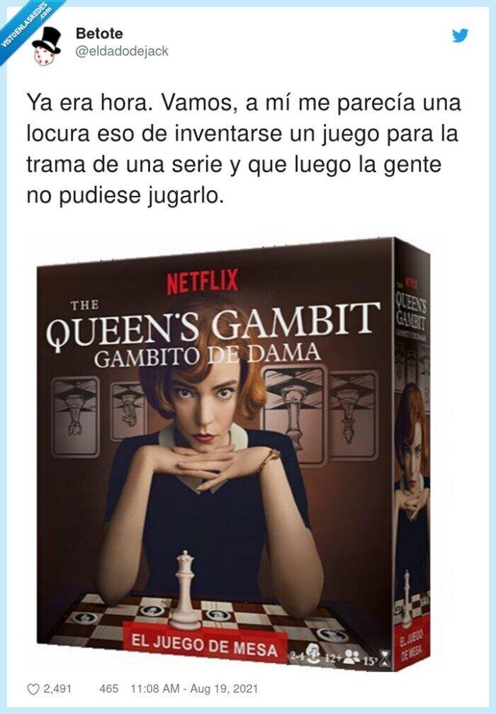 ajedrez,gambito de dama,inventarse,jugarlo,parecía
