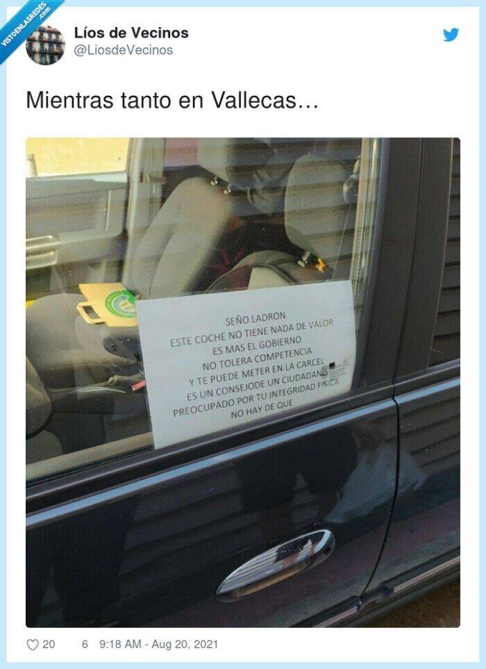 coche,nota,vallecas