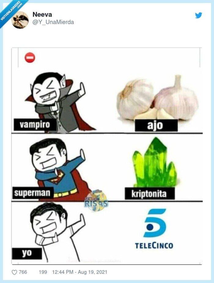 kryptonita,superman,telecinco,vampiro