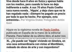 Enlace a A Paulo Coelho se le va la castaña de forma importante, como demuestra la entrevista, por @JorgeManzano_