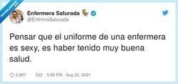 Enlace a Yo no he visto ni una, por @EnfrmraSaturada