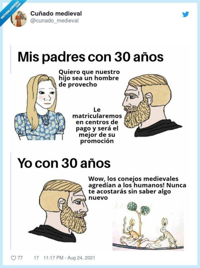 30 años,hijo,padres