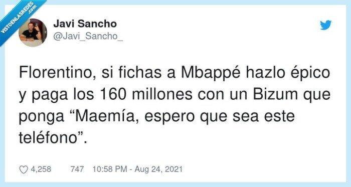 bizum,florentino,mbappé,millones,teléfono
