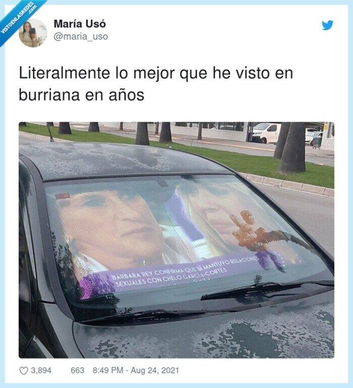 barbara rey,chelo garcía cortés,coche,parasol