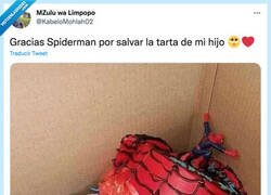Enlace a Gracias Spiderman por salvar la tarta de mi hijo, por @KabeloMohlah02