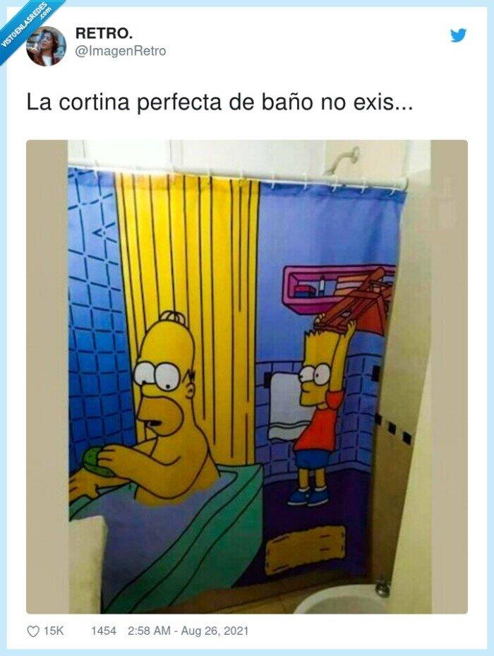 baño,cortina,perfecta,simpson