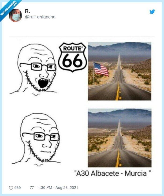 albacete,carretera,route 66