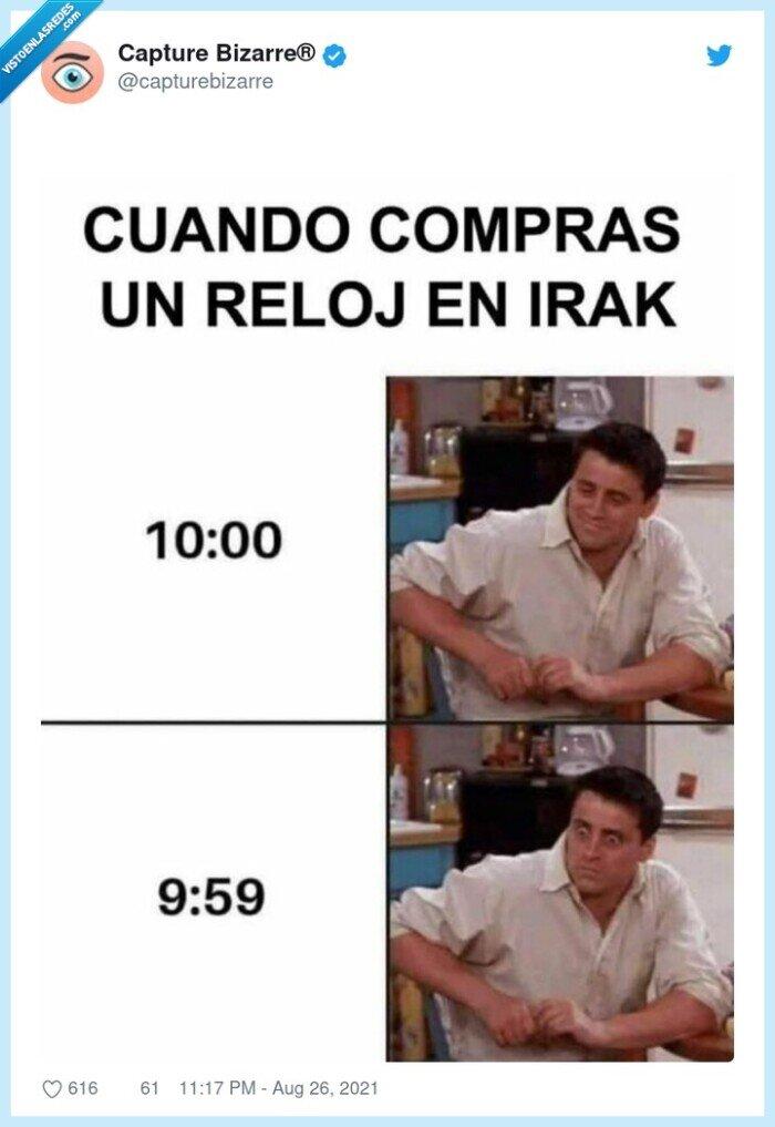 irak,reloj