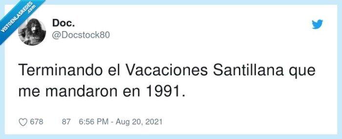 1991,terminando,vacaciones santillana