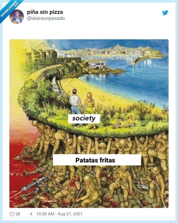 patatas fritas,problemas,sociedad