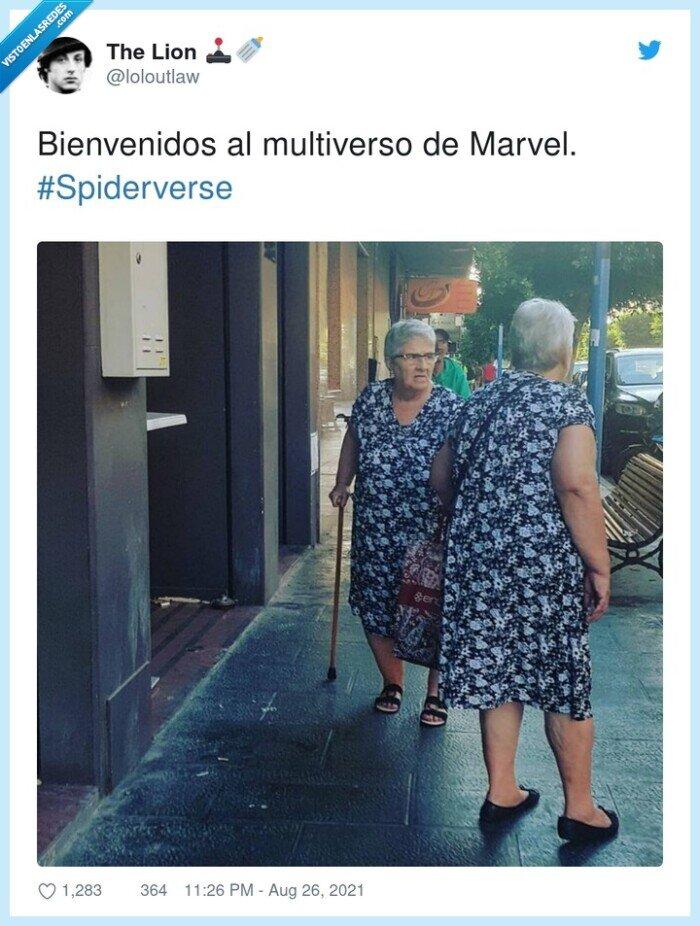 #spiderverse,abuelas,iguales,vestidos