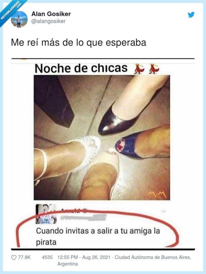 chicas,pata de mesa,pies,pirata,zapato