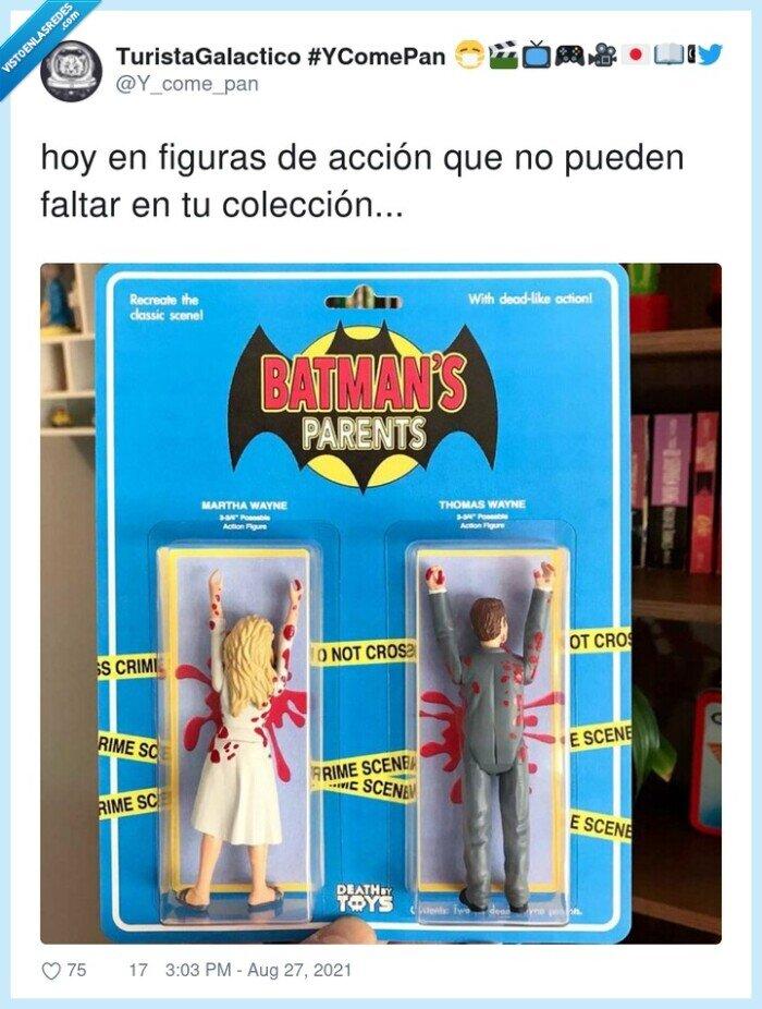acción,batman,colección,figuras,padres,thomas wayne