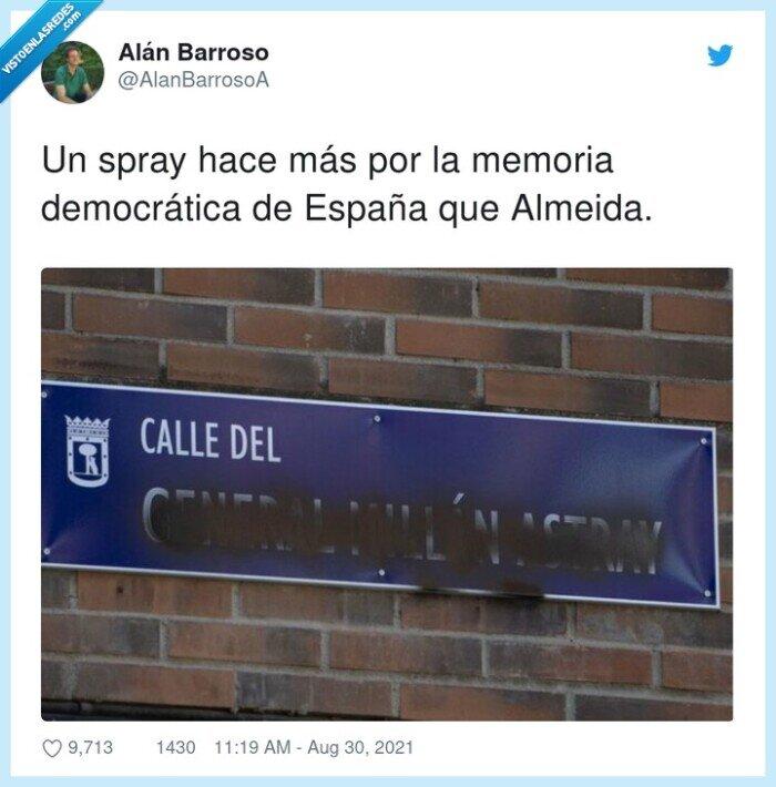 calle,cartel,franquismo,nombre,spray