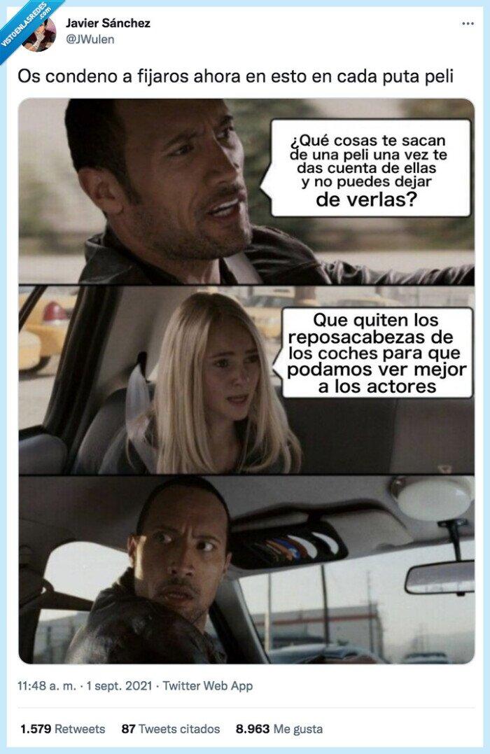 coche,reposacabezas,the rock