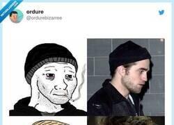 Enlace a Robert Pattinson sirve para cualquier meme, por @ordurebizarree