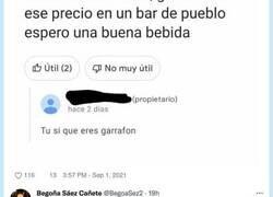 Enlace a El propietario de este bar no está contento con las rajadas de las reseñas de Google y raja él también, por @soycamarero