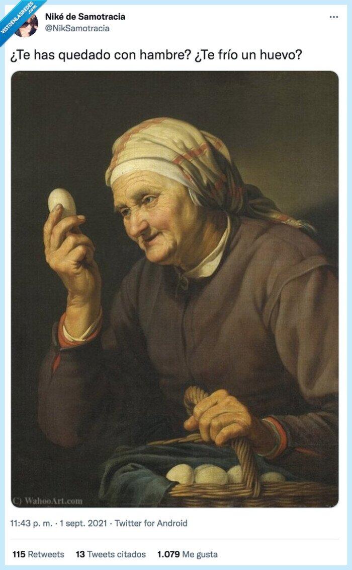 abuela,freír,huevo