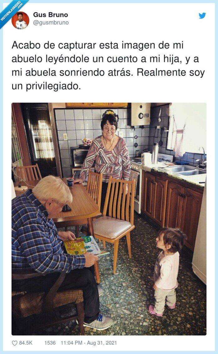 abuelo,bonita.,cuento,imagen,nieta