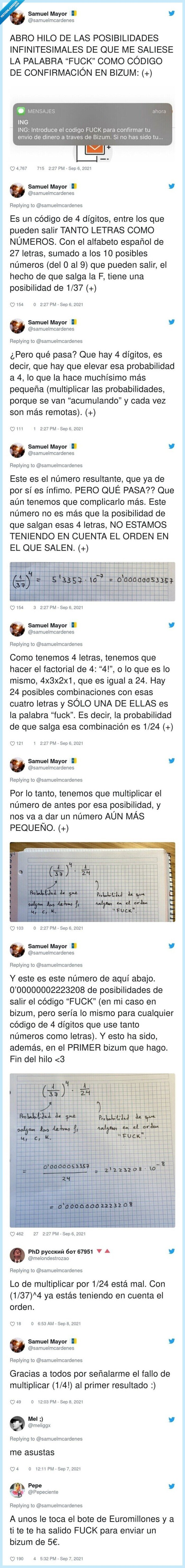 bizum,calculo,fuck,hilo,matemáticas,probabilidades