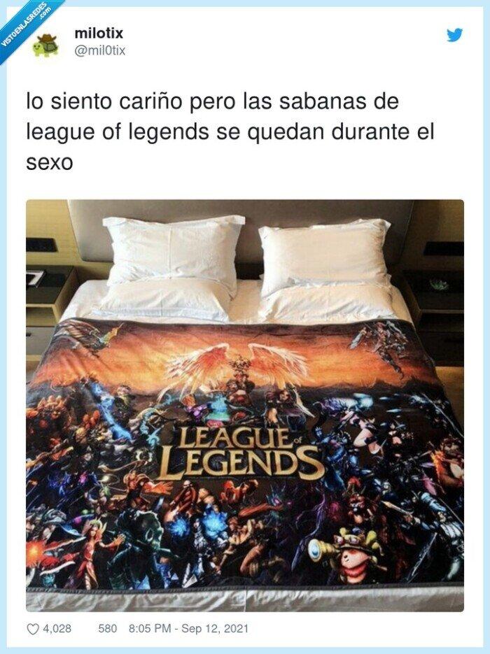 cama,league of legends,sabanas