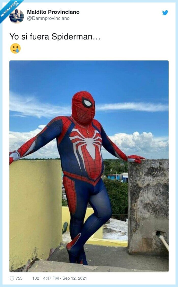 disfraz,gordo,spiderman