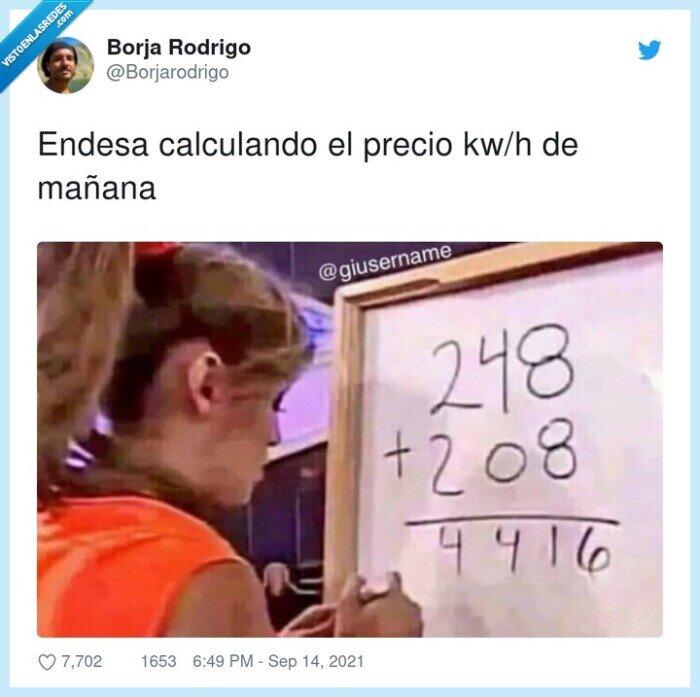 calculando,endesa,kw/h,mañana,precio
