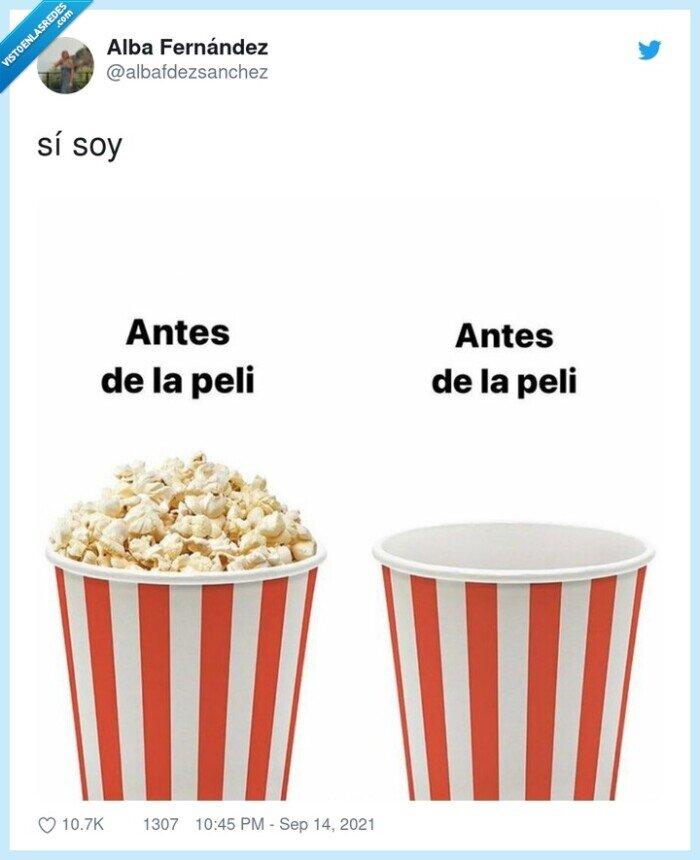 cine,palomitas,película