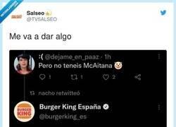 Enlace a Me siento muy Burger King en la vida, por @TVSALSEO