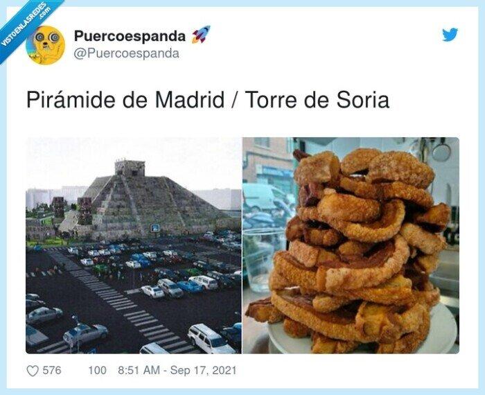madrid,pirámide,soria,torre,torreznos
