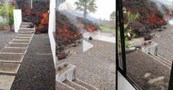 Enlace a Así se ve cómo llega la lava a esta lujosa casa de La Palma, por @rodriguezcoello