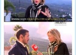 Enlace a Los Simpson predijeron a Susana Grisó en el volcán de La Palma, sobre todo el pañuelo, por @ElojoquetodoTV