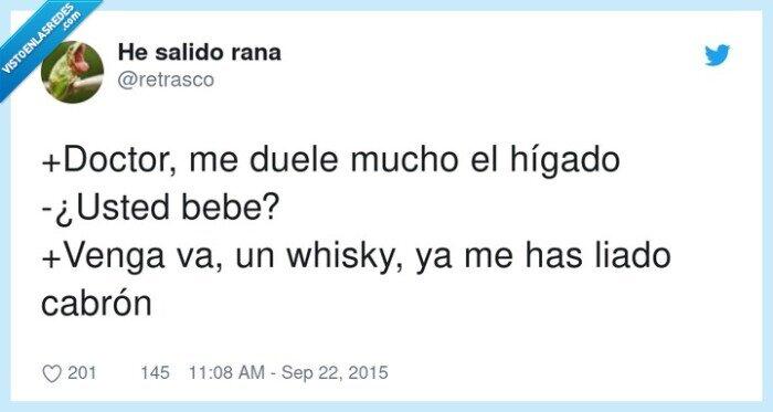 doctor,hígado,whisky