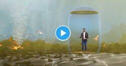 Enlace a El uso de la realidad aumentada en la Televisión Canaria en La Palma es modélico, informa y tiene una potencia visual enorme