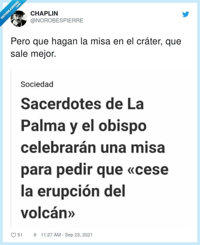 la palma,misa,volcán
