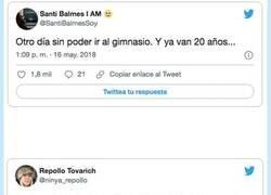 Enlace a Los mejores tweets sobre ir al gimnasio para ver si así te motivas un poco, por @liopardo