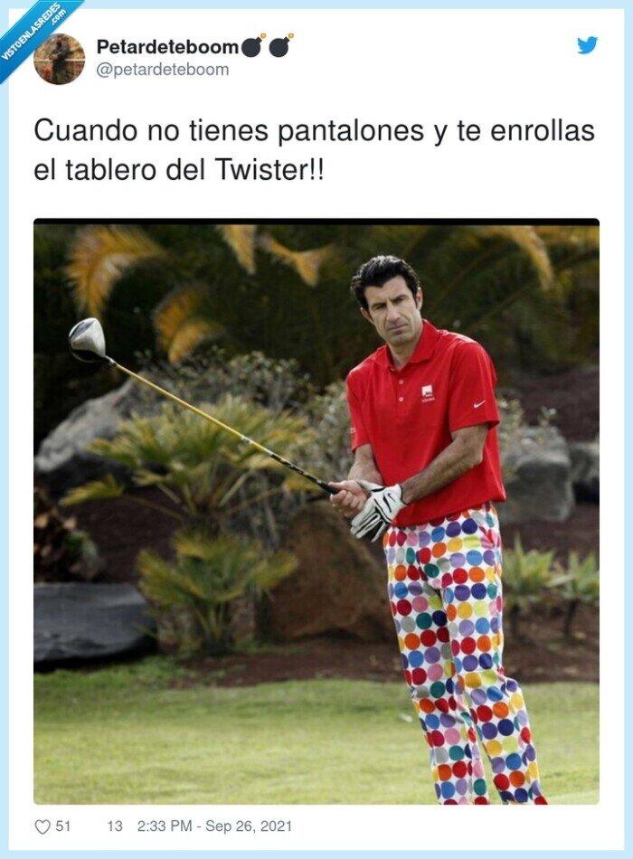 luis figo,pantalones,tablero,twister
