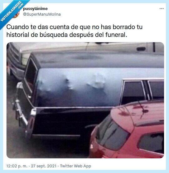 borrar,funeral,historial